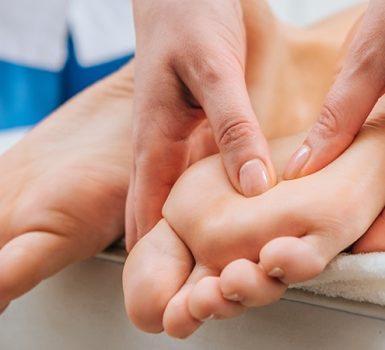 Using Foot Massage